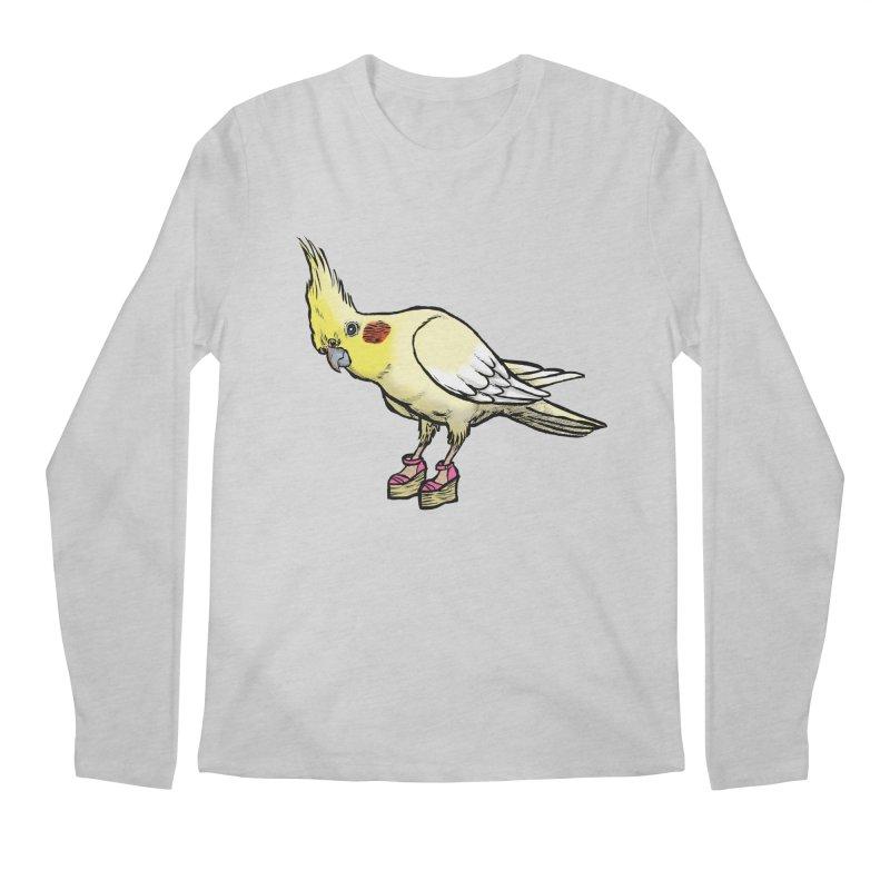 Cockatiel Men's Regular Longsleeve T-Shirt by Simon Christopher Greiner