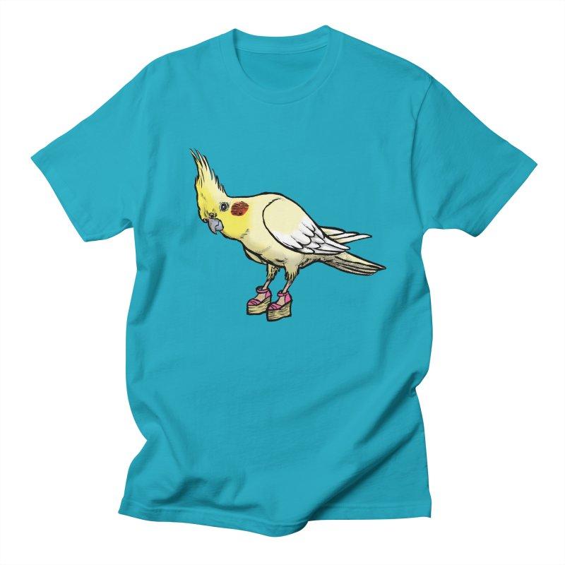 Cockatiel Men's Regular T-Shirt by Simon Christopher Greiner
