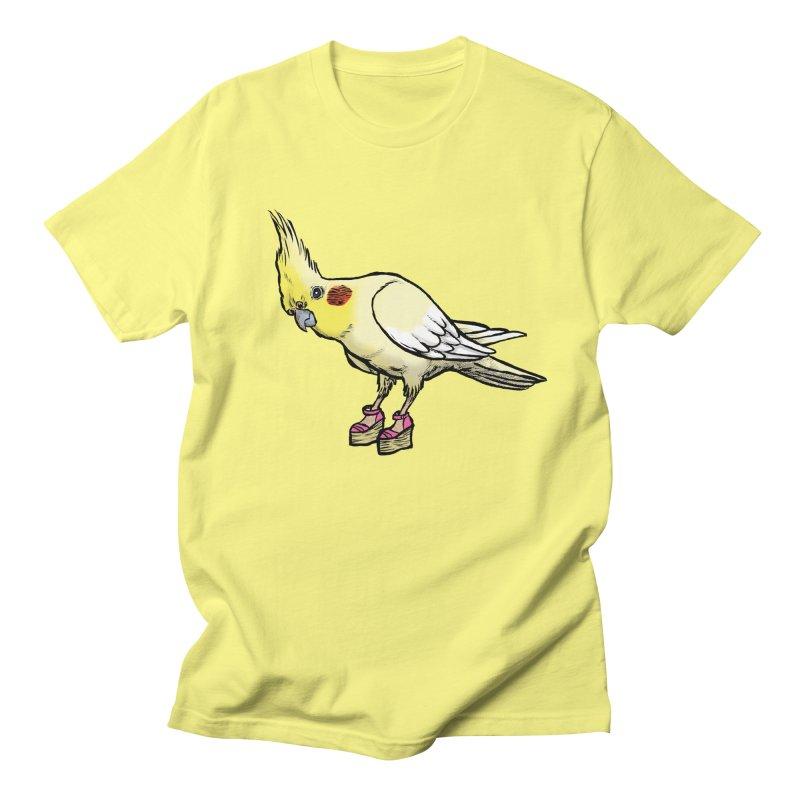 Cockatiel Men's T-shirt by Simon Christopher Greiner