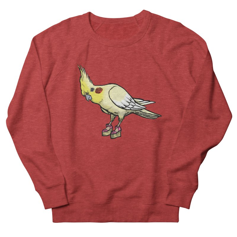 Cockatiel Women's French Terry Sweatshirt by Simon Christopher Greiner