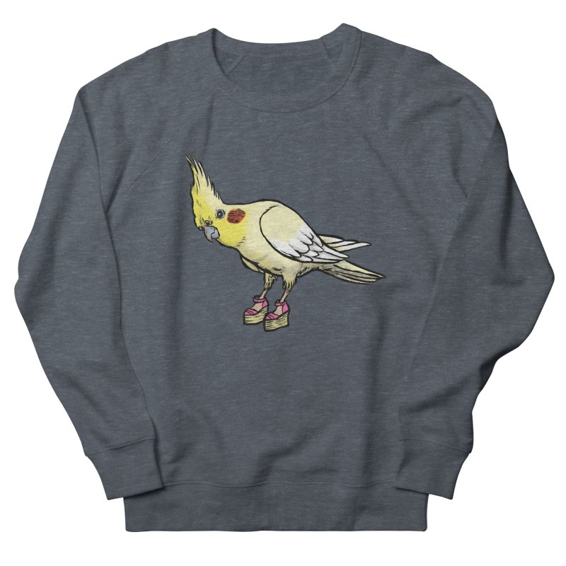 Cockatiel Men's French Terry Sweatshirt by Simon Christopher Greiner