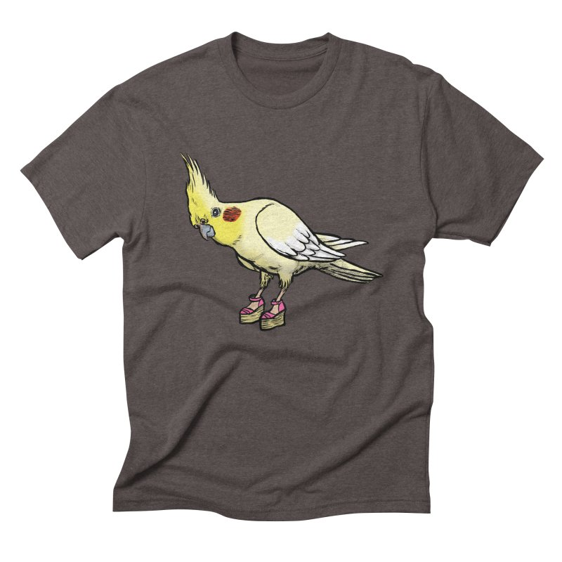 Cockatiel Men's Triblend T-Shirt by Simon Christopher Greiner