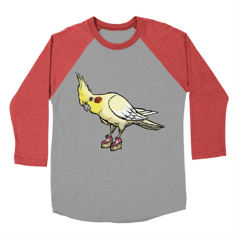 Cockatiel Women's Baseball Triblend T-Shirt by Simon Christopher Greiner