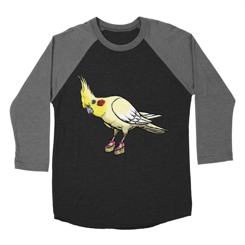 Cockatiel Women's Baseball Triblend T-Shirt by Simon Christopher Greiner