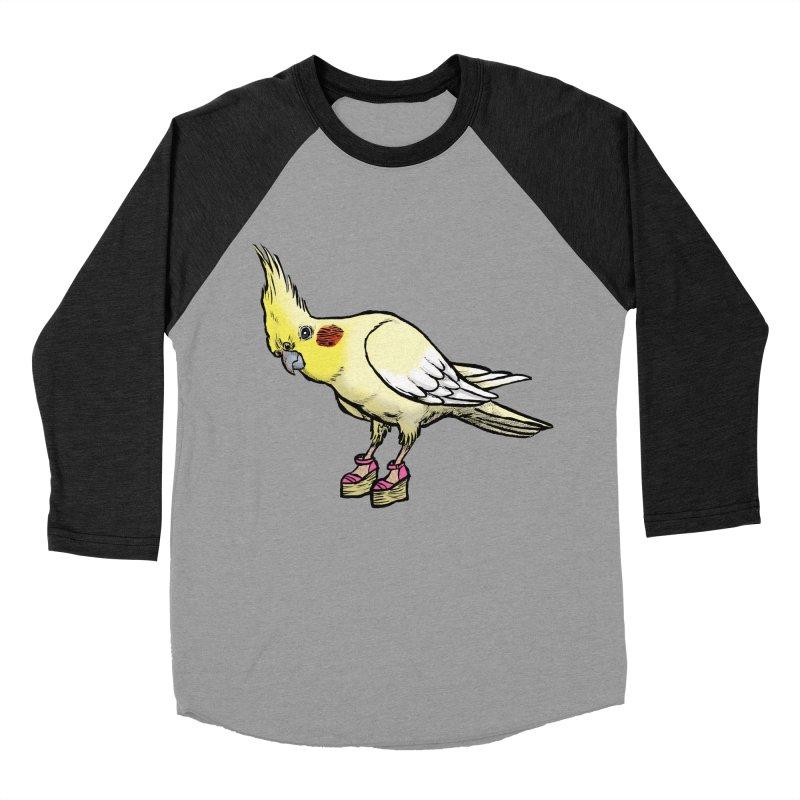 Cockatiel Women's Baseball Triblend Longsleeve T-Shirt by Simon Christopher Greiner