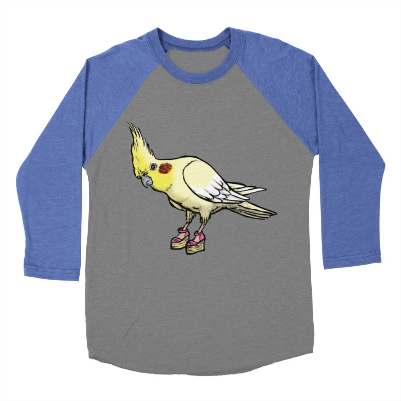 Cockatiel Men's Baseball Triblend T-Shirt by Simon Christopher Greiner