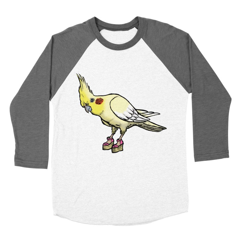 Cockatiel Men's Baseball Triblend Longsleeve T-Shirt by Simon Christopher Greiner