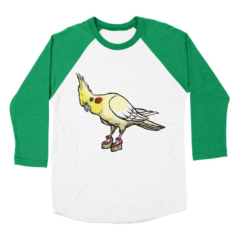 Cockatiel Men's Baseball Triblend Longsleeve T-Shirt by Simon Christopher Greiner