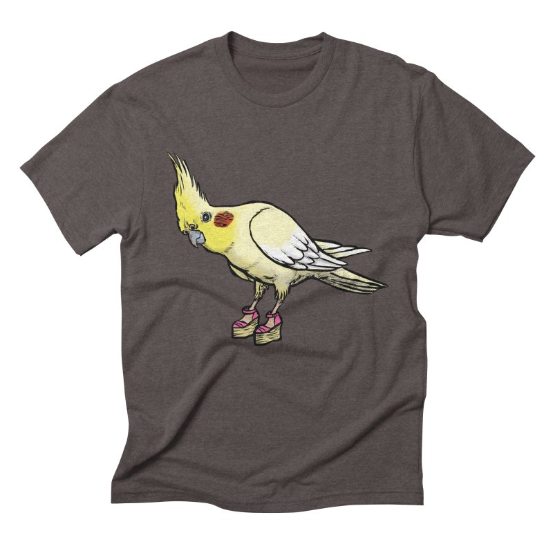 Cockatiel Men's Triblend T-shirt by Simon Christopher Greiner