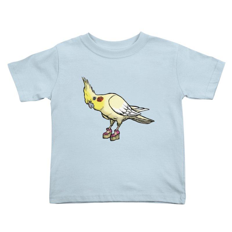 Cockatiel Kids Toddler T-Shirt by Simon Christopher Greiner