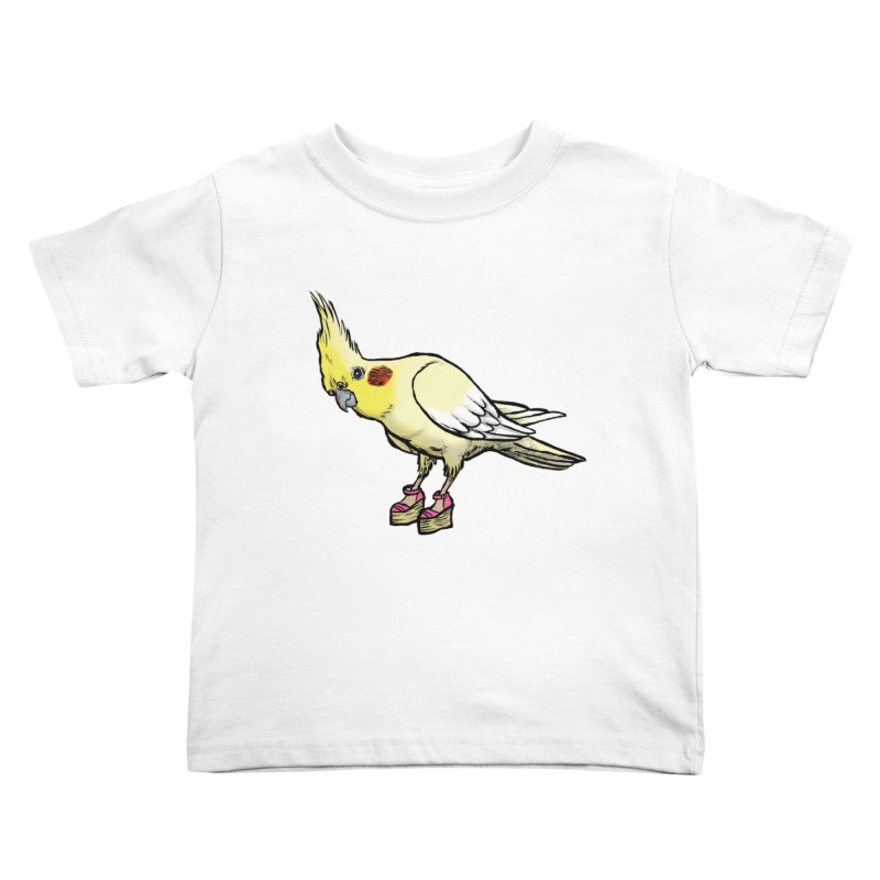 Cockatiel Kids Toddler T-Shirt by Simon Christopher Greiner