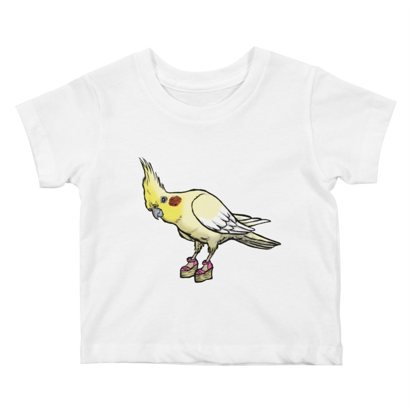 Cockatiel Kids Baby T-Shirt by Simon Christopher Greiner