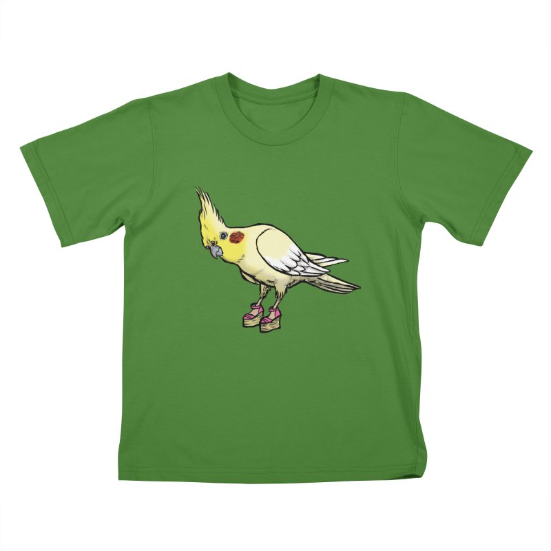 Cockatiel Kids T-Shirt by Simon Christopher Greiner