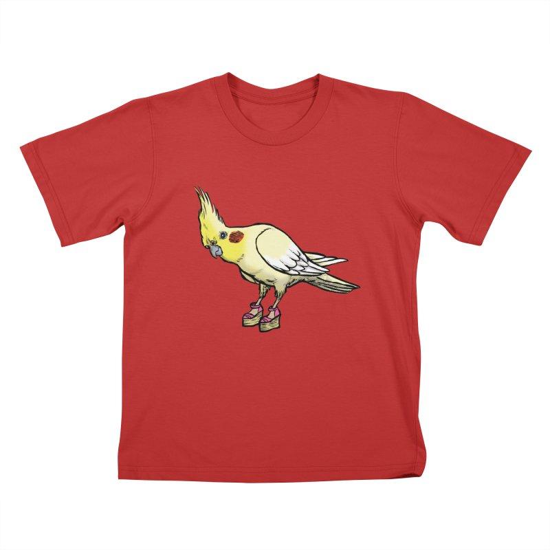 Cockatiel Kids T-Shirt by Simon Christopher Greiner