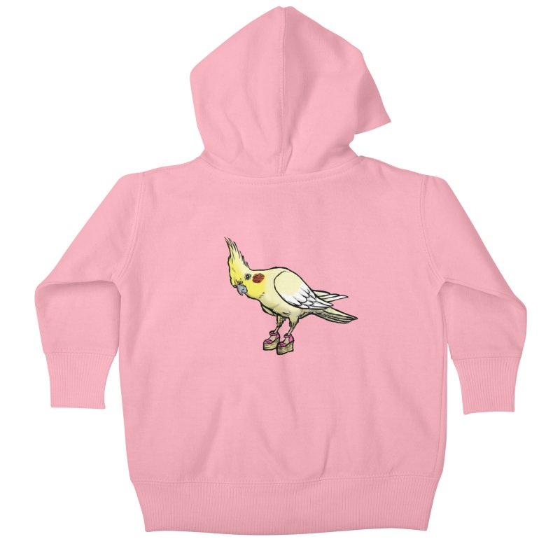Cockatiel Kids Baby Zip-Up Hoody by Simon Christopher Greiner
