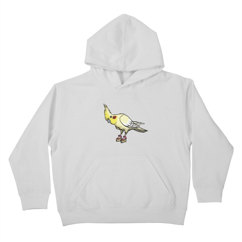Cockatiel Kids Pullover Hoody by Simon Christopher Greiner
