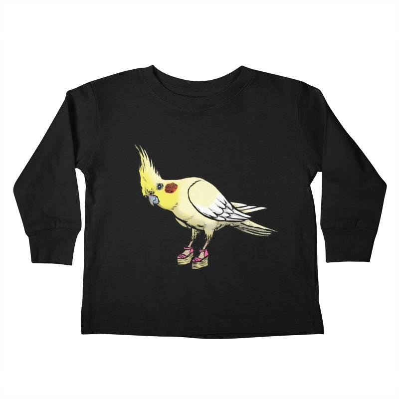 Cockatiel Kids Toddler Longsleeve T-Shirt by Simon Christopher Greiner