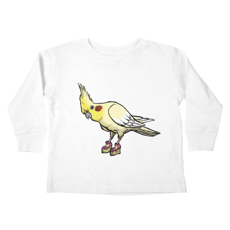 Cockatiel Kids Toddler Longsleeve T-Shirt by Simon Christopher Greiner