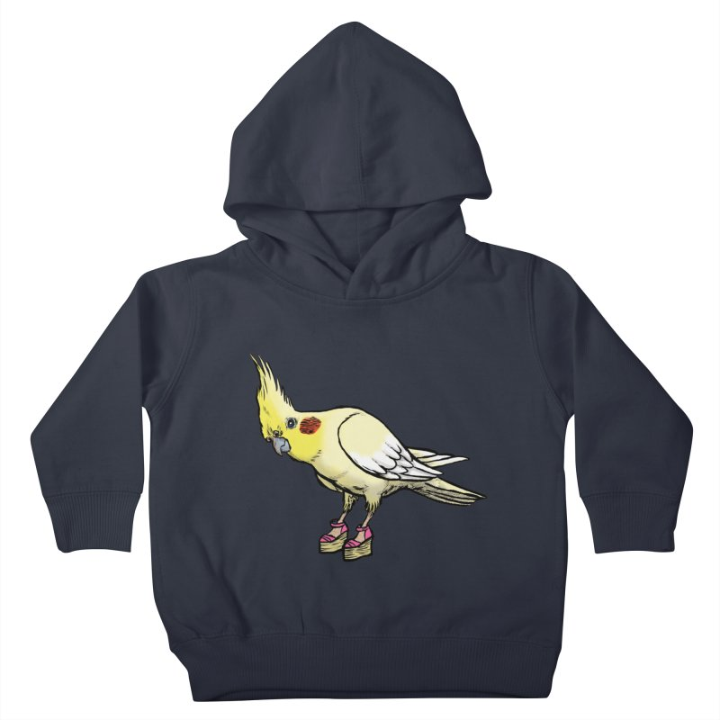 Cockatiel Kids Toddler Pullover Hoody by Simon Christopher Greiner