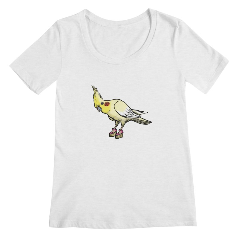Cockatiel Women's Regular Scoop Neck by Simon Christopher Greiner