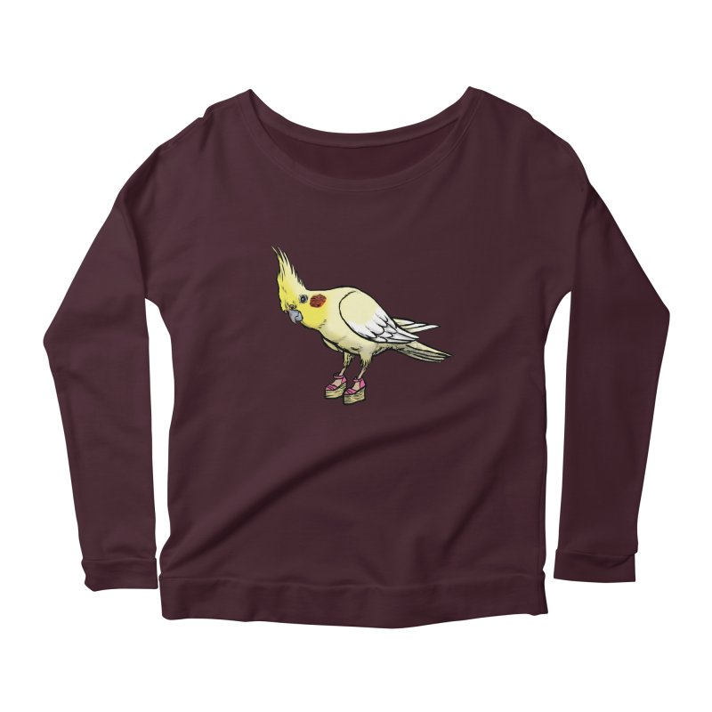 Cockatiel Women's Scoop Neck Longsleeve T-Shirt by Simon Christopher Greiner