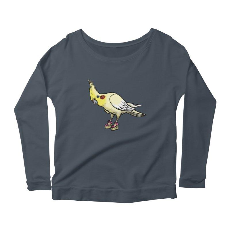 Cockatiel Women's Scoop Neck Longsleeve T-Shirt by Simon Christopher Greiner