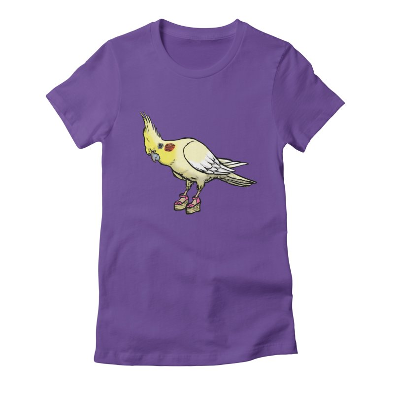 Cockatiel Women's Fitted T-Shirt by Simon Christopher Greiner