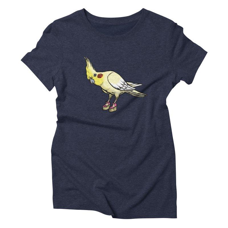 Cockatiel Women's Triblend T-Shirt by Simon Christopher Greiner