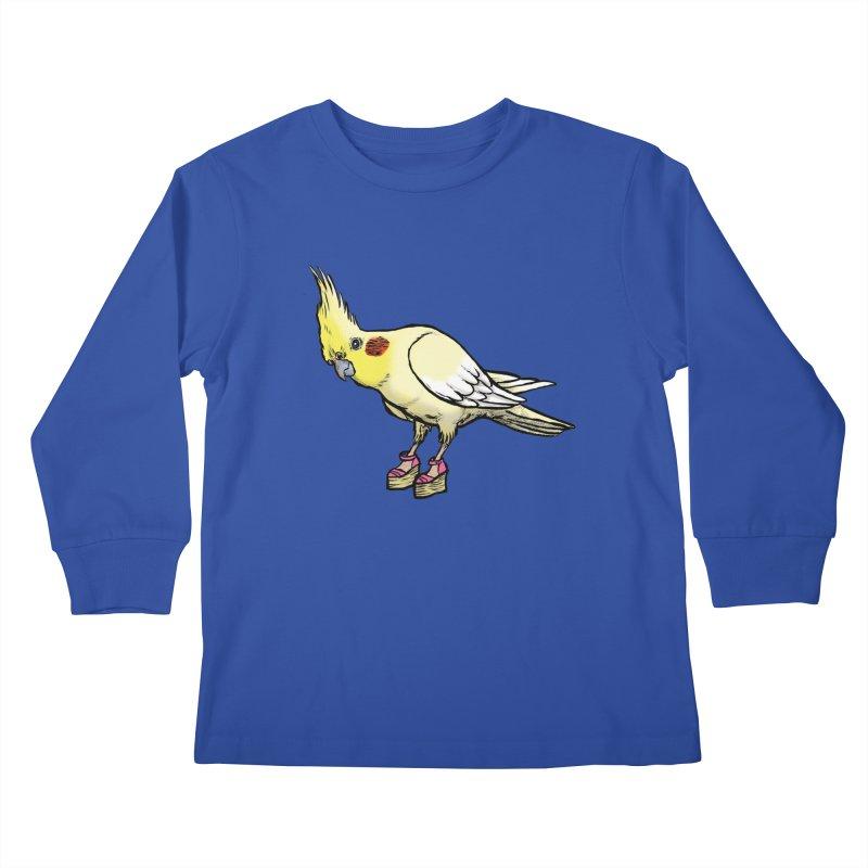 Cockatiel Kids Longsleeve T-Shirt by Simon Christopher Greiner