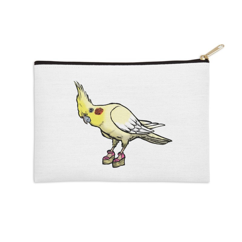 Cockatiel Accessories Zip Pouch by Simon Christopher Greiner
