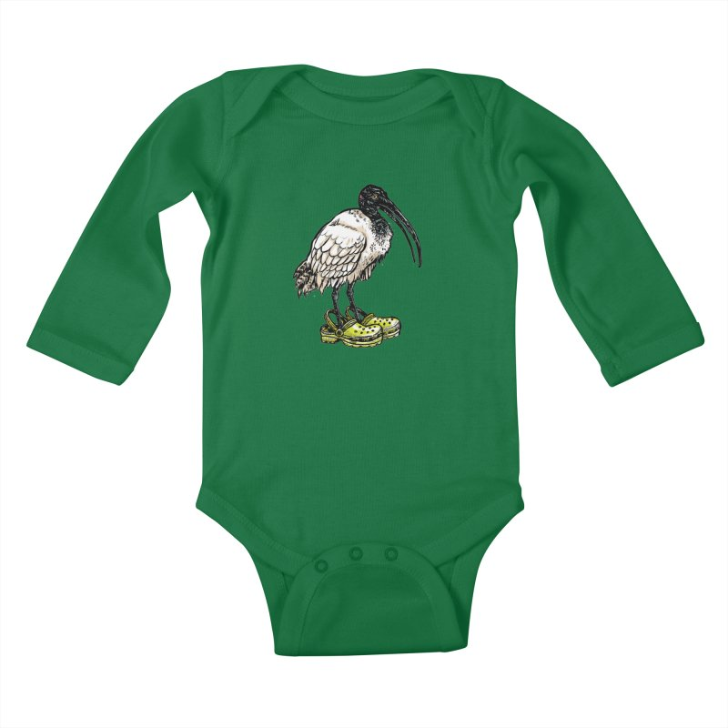Ibis Kids Baby Longsleeve Bodysuit by Simon Christopher Greiner
