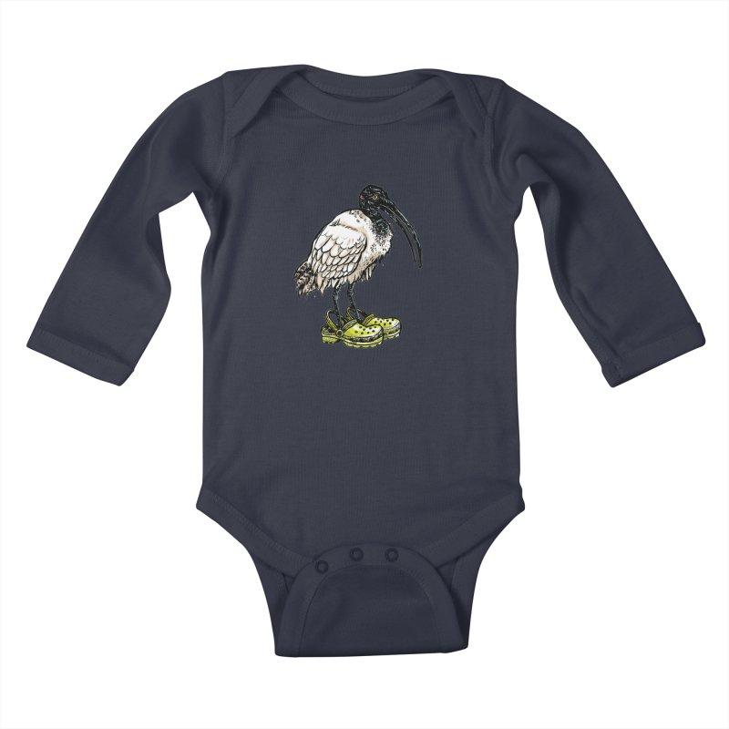 Ibis Kids Baby Longsleeve Bodysuit by Simon Christopher Greiner