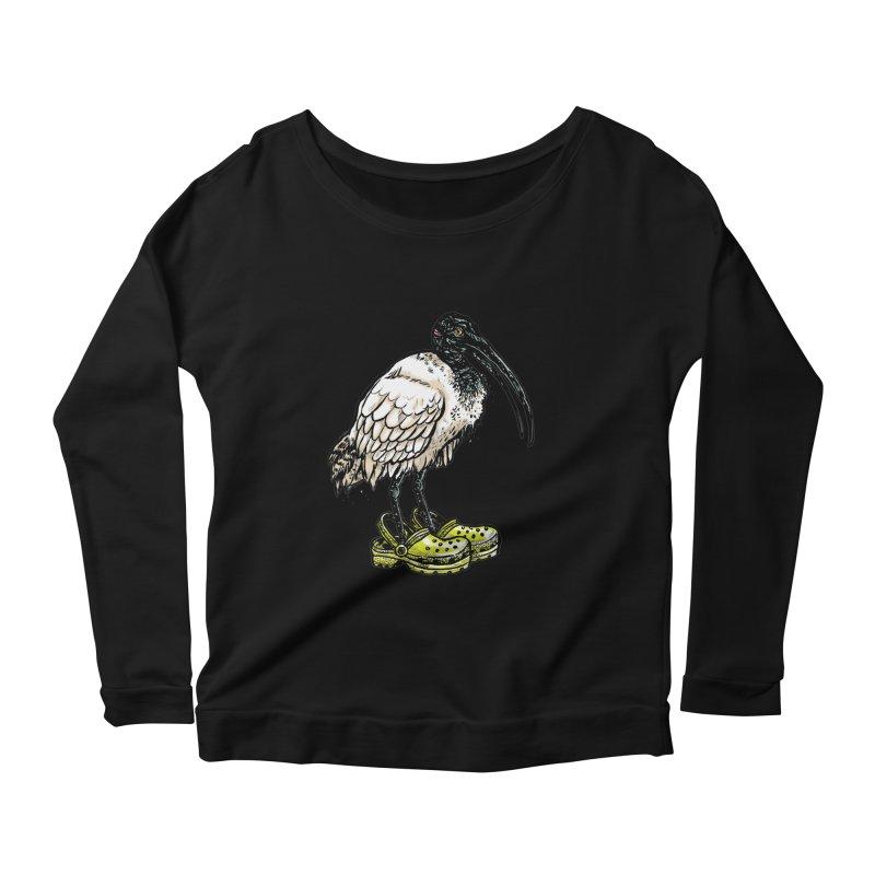 Ibis Women's Scoop Neck Longsleeve T-Shirt by Simon Christopher Greiner