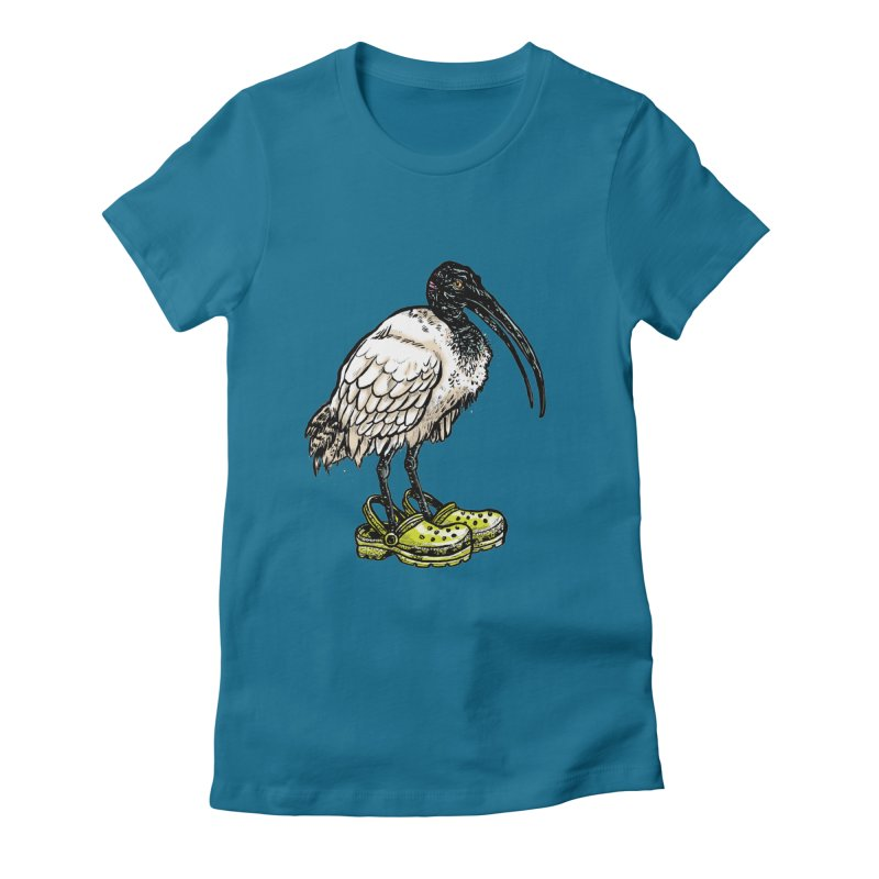 Ibis Women's Fitted T-Shirt by Simon Christopher Greiner