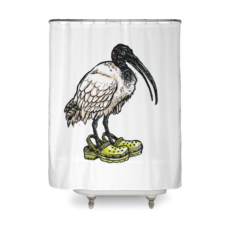 Ibis Home Shower Curtain by Simon Christopher Greiner