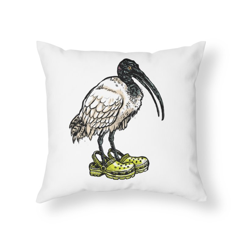 Ibis Home Throw Pillow by Simon Christopher Greiner