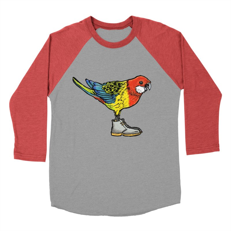 Rosella Men's Baseball Triblend Longsleeve T-Shirt by Simon Christopher Greiner