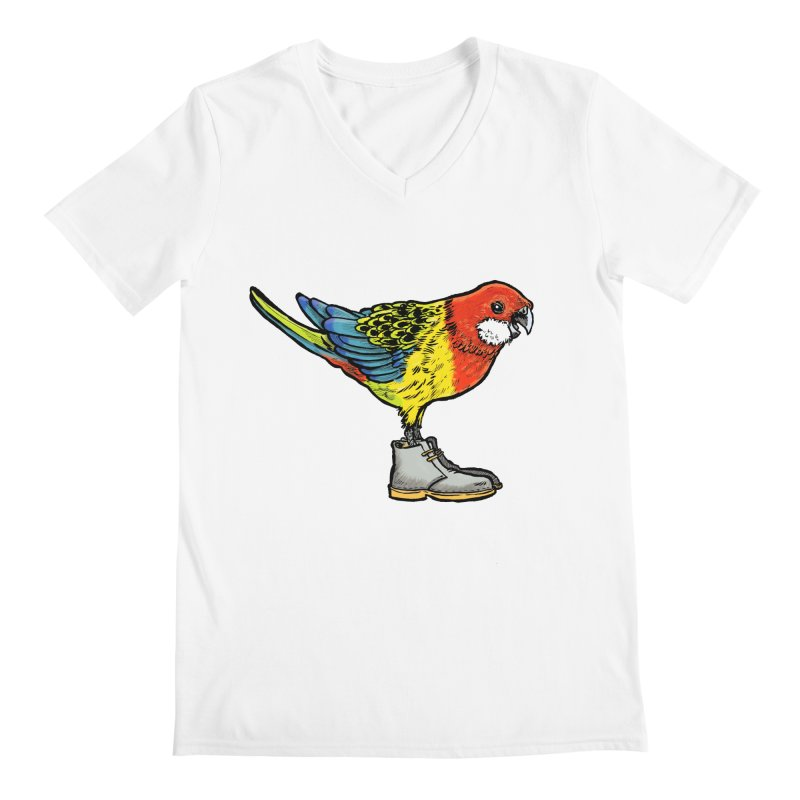 Rosella Men's V-Neck by Simon Christopher Greiner