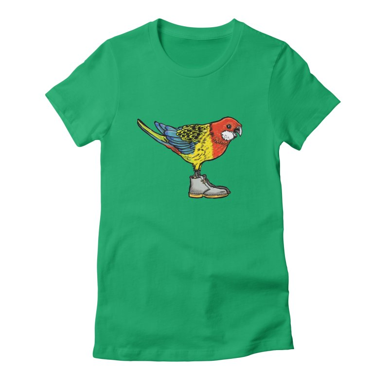 Rosella Women's Fitted T-Shirt by Simon Christopher Greiner