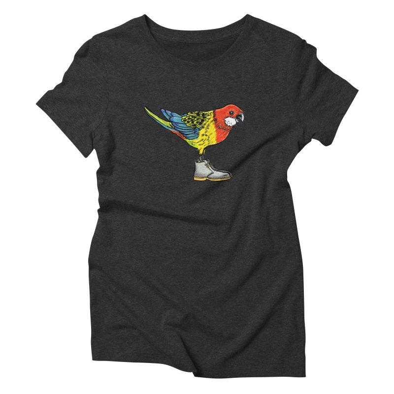 Rosella Women's Triblend T-shirt by Simon Christopher Greiner