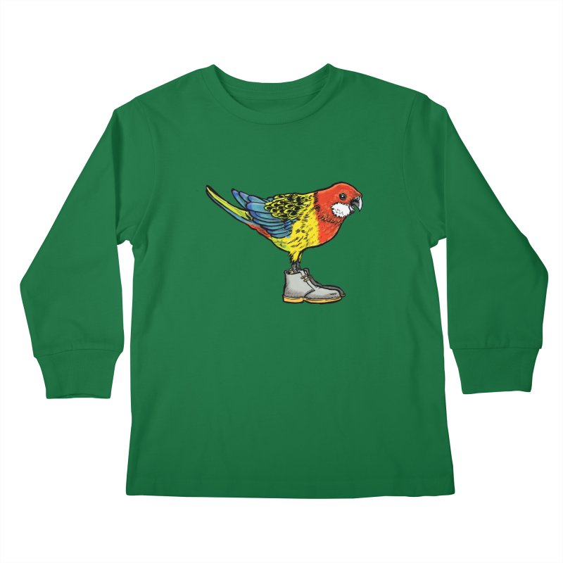 Rosella Kids Longsleeve T-Shirt by Simon Christopher Greiner