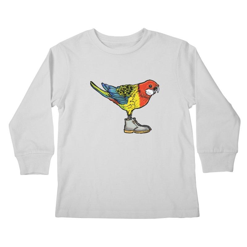 Rosella Kids Longsleeve T-Shirt by Simon Christopher Greiner