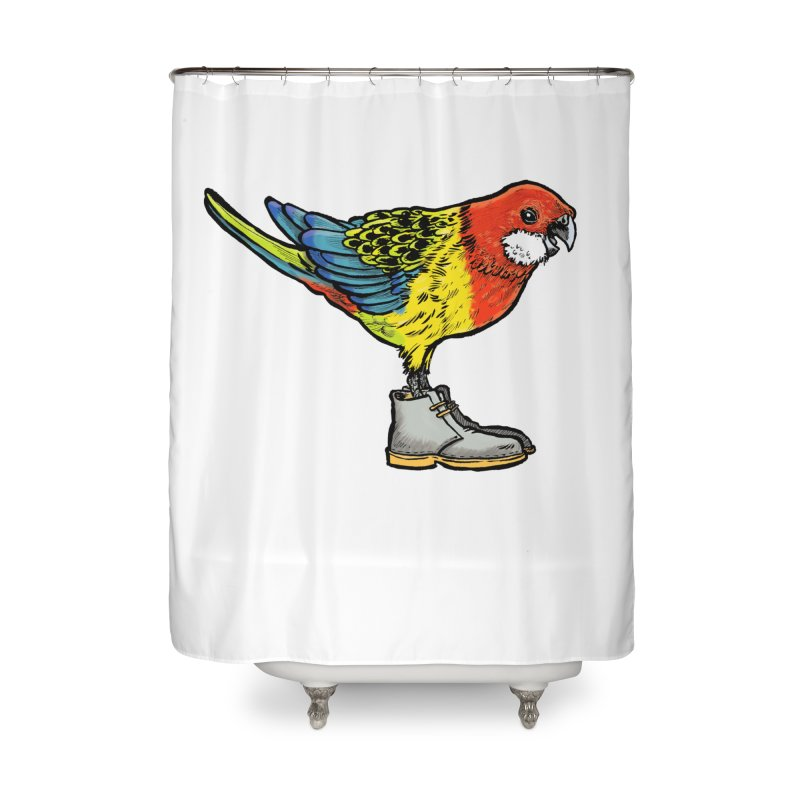 Rosella Home Shower Curtain by Simon Christopher Greiner