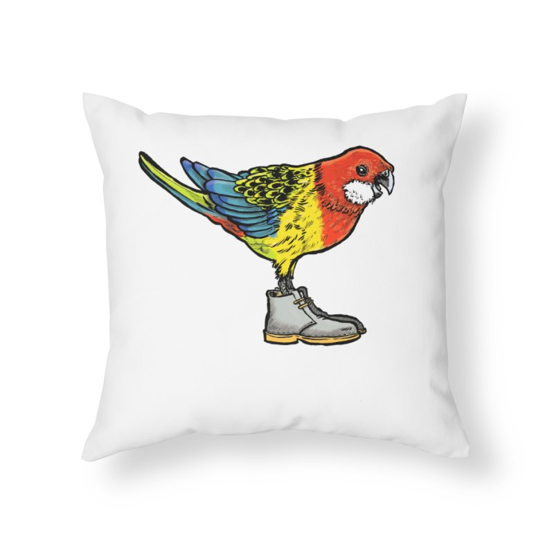 Rosella Home Throw Pillow by Simon Christopher Greiner