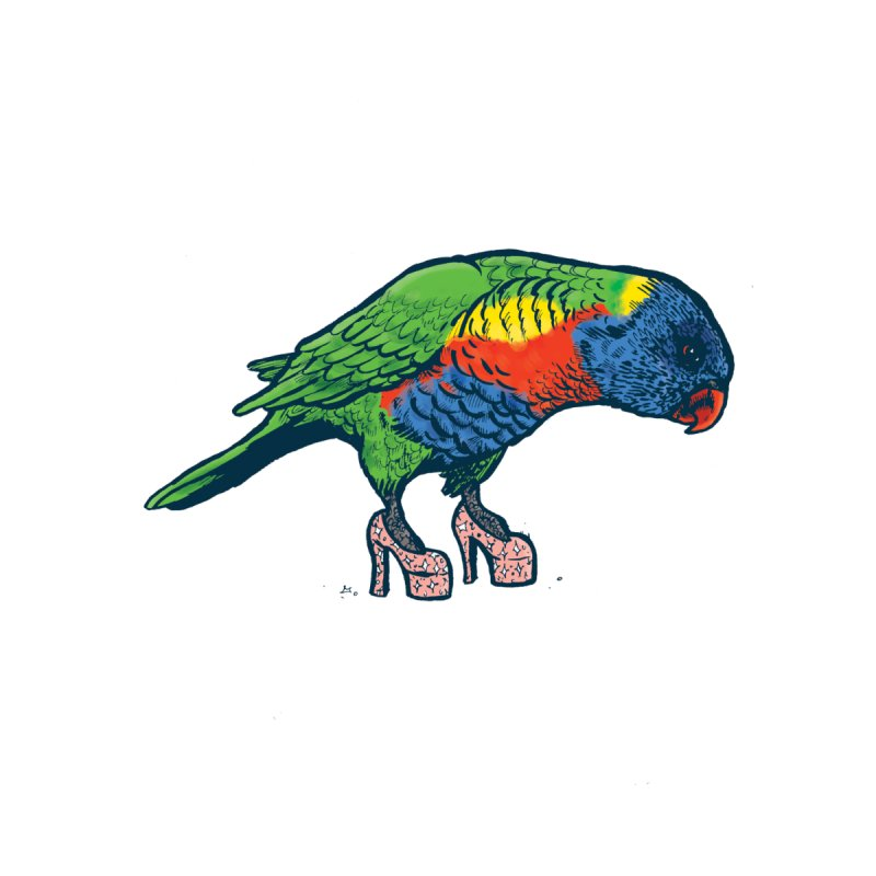 Lorikeet Men's Longsleeve T-Shirt by Simon Christopher Greiner