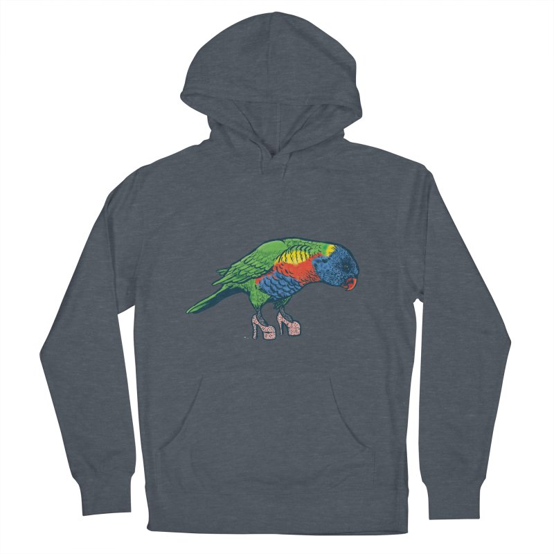 Lorikeet Women's French Terry Pullover Hoody by Simon Christopher Greiner