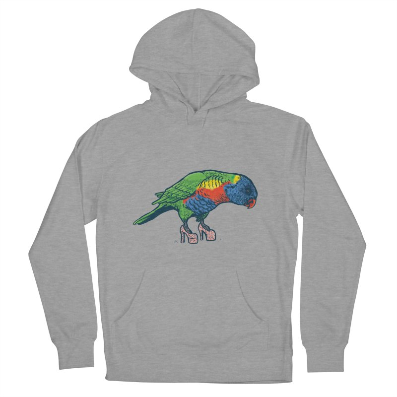 Lorikeet Men's French Terry Pullover Hoody by Simon Christopher Greiner
