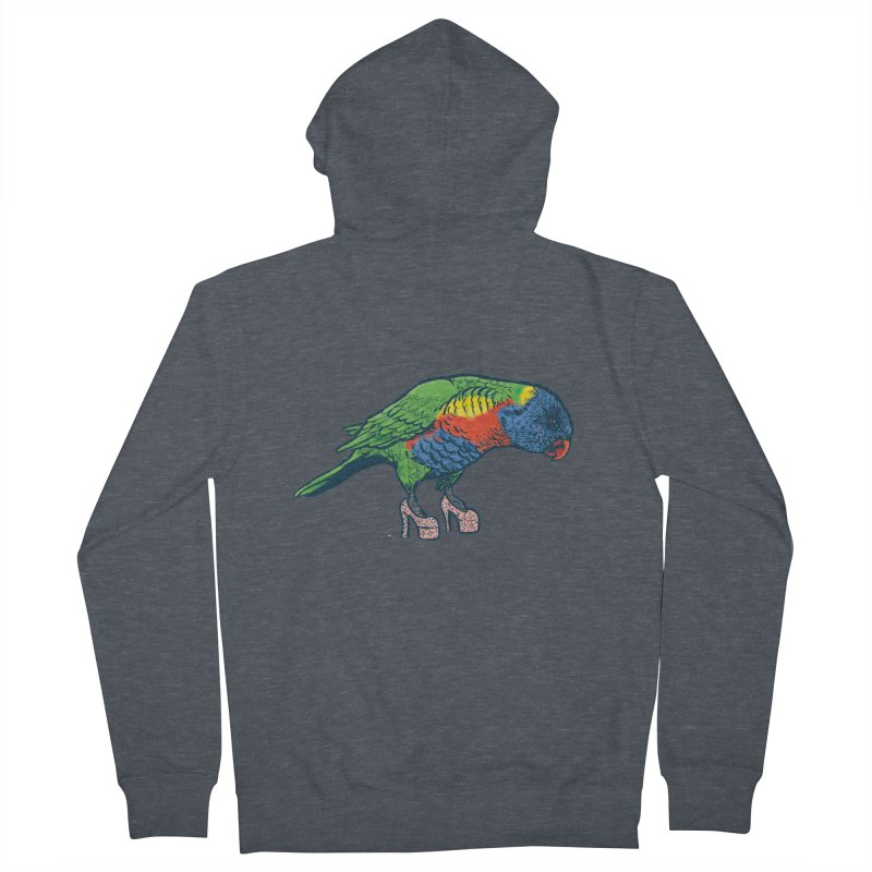 Lorikeet Women's French Terry Zip-Up Hoody by Simon Christopher Greiner