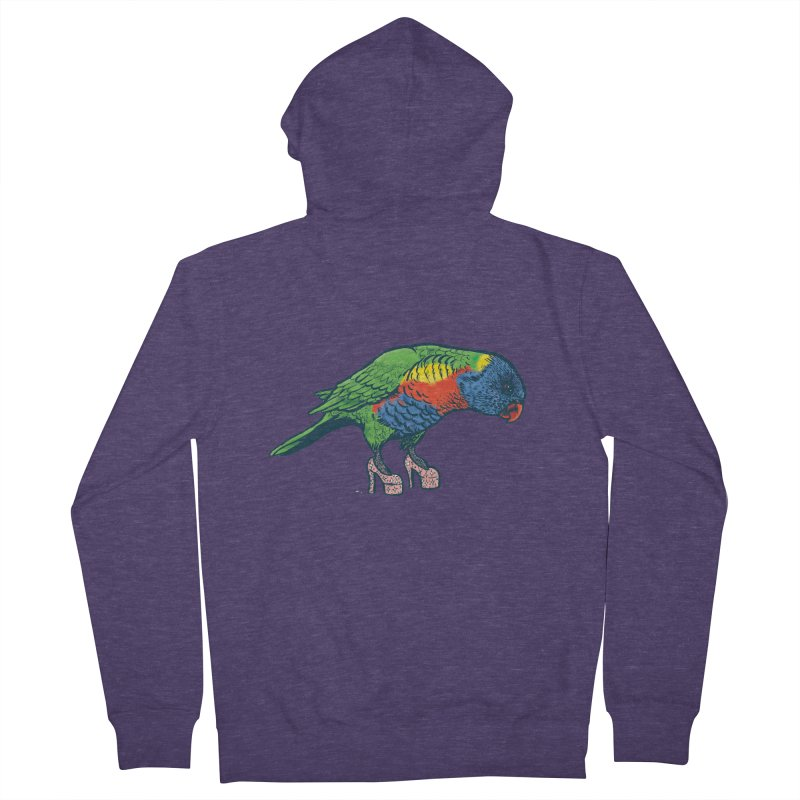 Lorikeet Men's Zip-Up Hoody by Simon Christopher Greiner