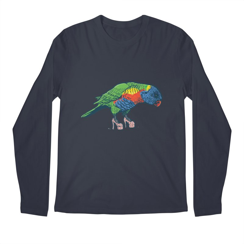 Lorikeet Men's Regular Longsleeve T-Shirt by Simon Christopher Greiner